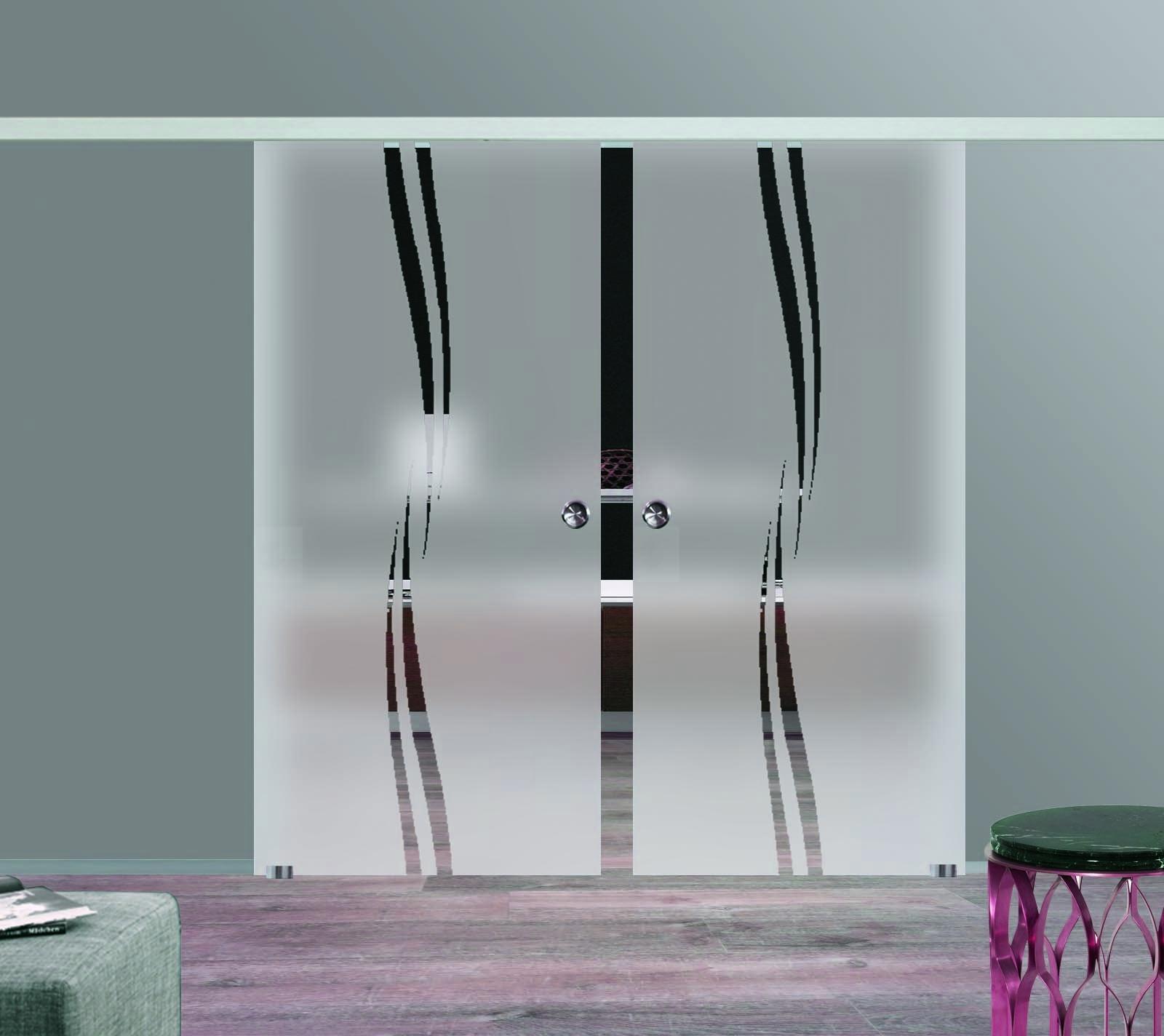 arx shop zweifl gelige glas schiebet ren m2. Black Bedroom Furniture Sets. Home Design Ideas