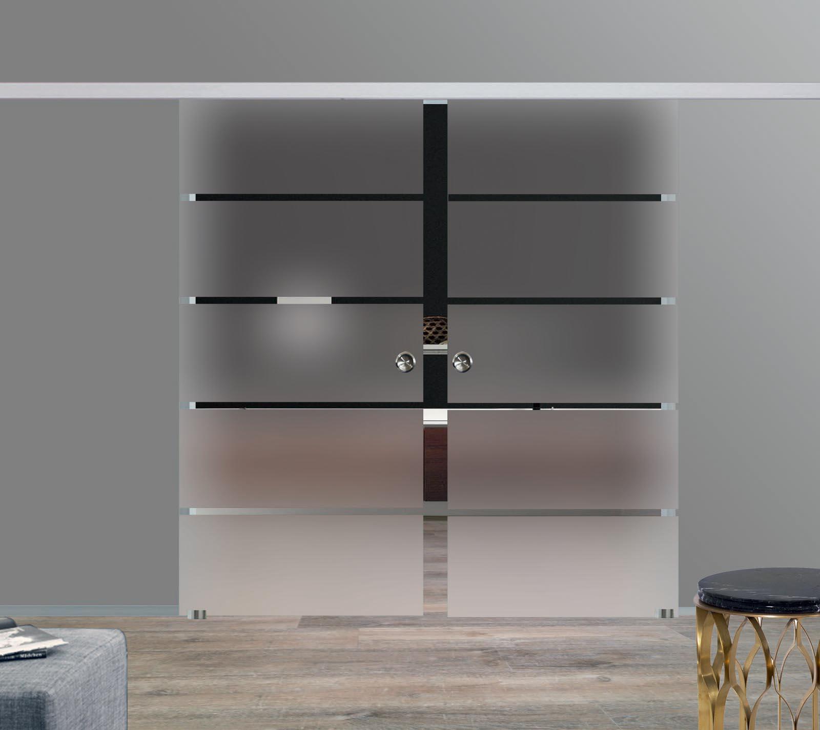 Superb Zweiflügelige Glas Schiebetüren P1