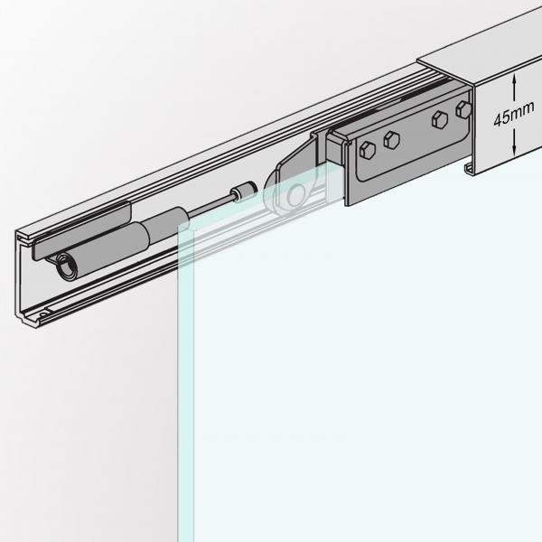 arx shop slimline schiebet r system mit soft stopper 155 cm. Black Bedroom Furniture Sets. Home Design Ideas