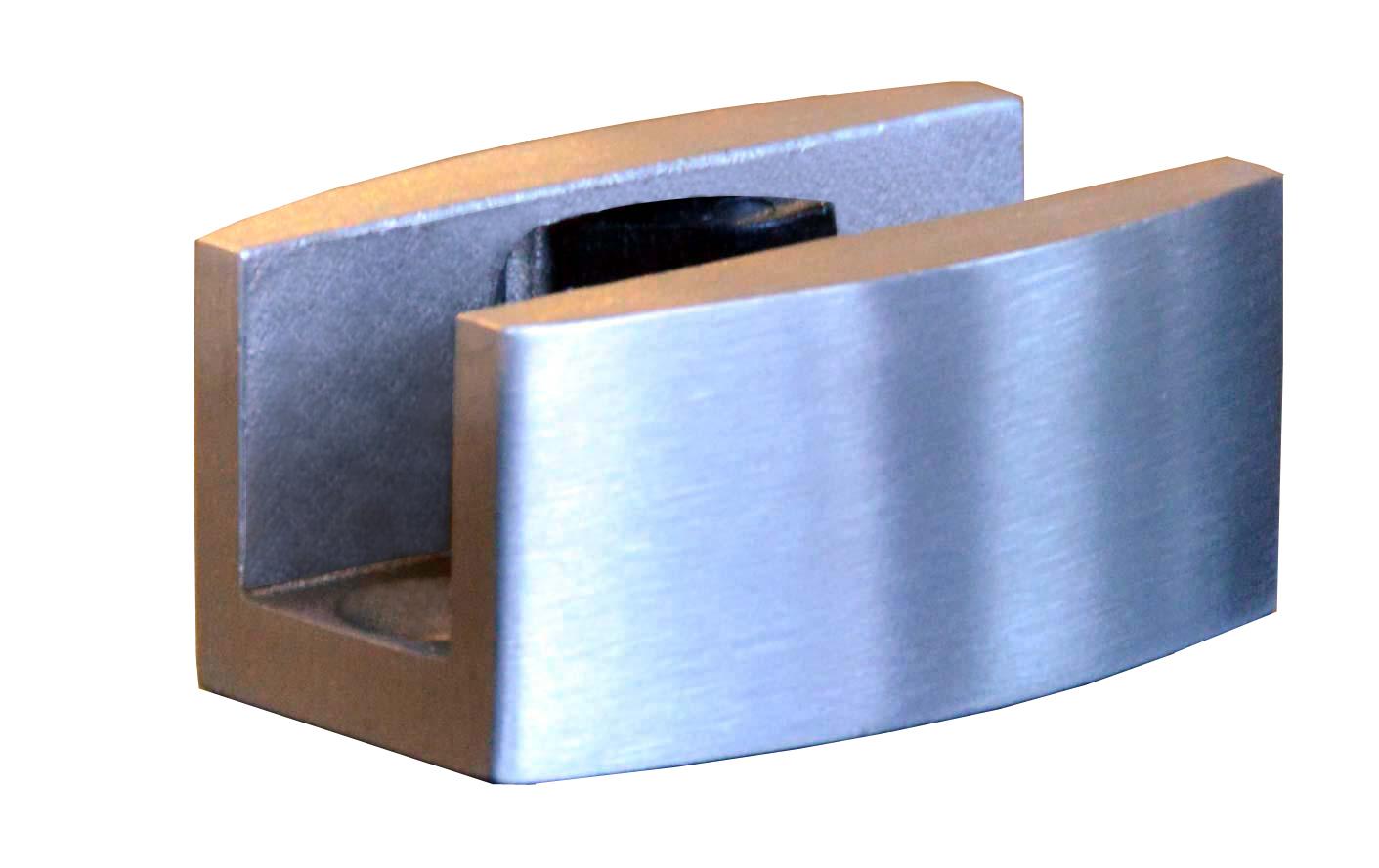 Schiebet/ürsystem ESG 775x2050x8mm Dekor C Klarglas; Schienensystem ALU SlimLine SoftClose; Griffmuschel BC-775-KNAUF-ASE